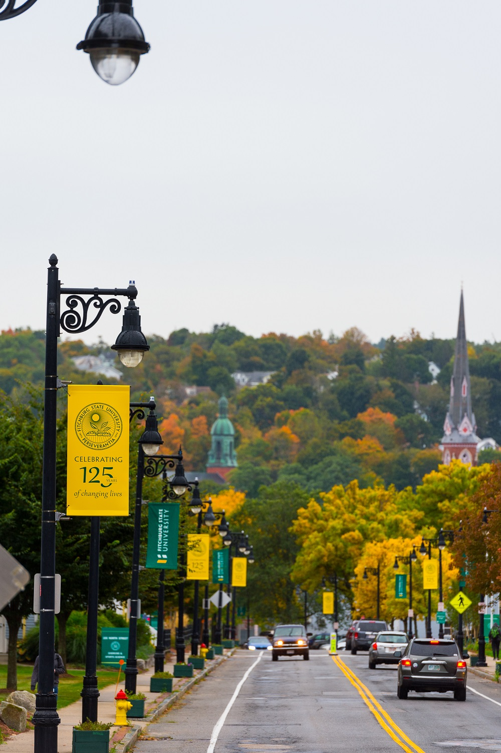 North Street in Autumn, Fitchburg State University