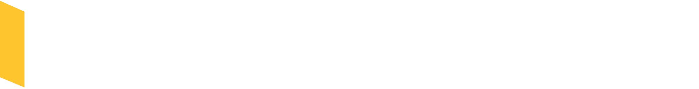 Fitchburg State Alumni & Friends Logo horizontal white